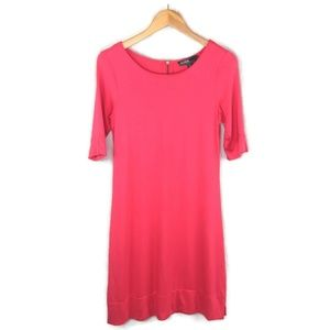 Donna Ricco Shift Dress Womens S Stretch Knit Pink